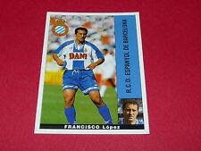 FRANCISCO LOPEZ ESPANYOL BARCELONA PANINI LIGA 95-96 ESPANA 1995-1996 FOOTBALL