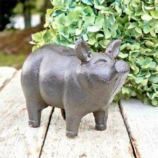 Small Piglet Garden Statue Cast Iron