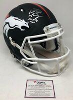 PEYTON MANNING Autographed 5x NFL MVP Black Matte Broncos Helmet FANATICS LE 18