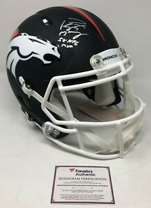 PEYTON MANNING Signed 5x NFL MVP Black Matte Broncos Helmet FANATICS LE 1/18