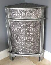 Nero argento in rilievo vintage stile francese unità AD ANGOLO CAMERA DA LETTO ARMADIO LAMPADA
