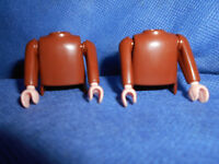 Playmobil Ritter ACW Zwerg 2 x Oberkörper mit Arme bodys braun unbespielt top