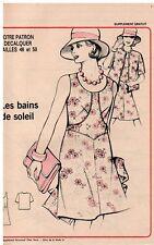 ▬► Patron Couture Supplément Écho de la Mode Bain Soleil Tunique T46 à 50  N°21
