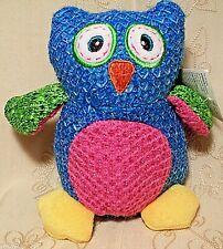 "Dan Dee Boy Girl MultiColor Blue Shimmer Weave Owl 7"" Plush Stuffed Animal Toy"
