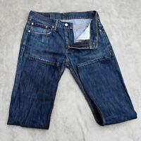 Mens LEVIS 513 Jeans Size W32 L32 Dark Blue Slim fit Straight leg Lightweight