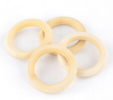 Natural Wood Circle Ring Pendant Connector Beads DIY Jewelry Findings 68mm 20Pcs