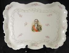 Beautiful Antique Bavaria Porcelain  Tray * Marechal Lefebure