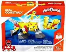 Mega Bloks Power Rangers Mega Construx Sabertooth Tiger Zord Set Dpk74