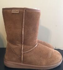 ++ Minnetonka Womens Olympia Short Boot - Brown Size 8 ~ 85671 ~ EXCELLENT
