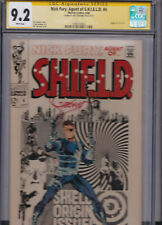NICK FURY Agent of SHIELD #4 CGC 9.2 SS SIGNED STERANKO WHITE pages 1969 ORIGIN