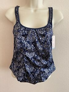 Gilligan O'Malley Shine - Shiny Blue Fitted Cami Camisole Tank Size Large
