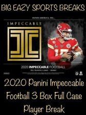 Peyton Manning 2020 Panini Impeccable Football 3 Box Full Case Player Break #4