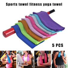 5Pcs Cooling Towel Quick Dry Breathable for Sports Fitness Yoga Swimming Travel