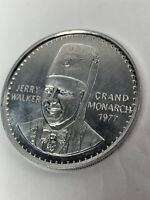 GRAND MONARCH 1977 new orleans JERRY WALKER FARHAD GROTTO Masonic Shriners coin