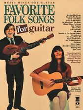 Favorite Folks Songs for Guitar - Music Minus One Book and CD NEW 000400408