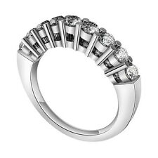 1 ct Solitaire Diamonds Ring Guard Women 14k White Gold Enhanced Wedding Band