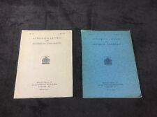 Autograph Letters & Historical Documents Catalogs by The Mags Bros. 1927 & 1938