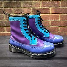 DR MARTENS HARRIE Patent Brogue Lace-up Boots, Blue & Purple - 5 UK, 7 US, 38 EU