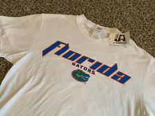 NWT Vintage Florida Gators Spellout Logo Tee Collegiate White Mens Size Medium