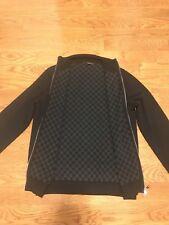 Authentic Louis Vuitton Damier Graphite VIP Sweater Wool Cashmere Cardigan Large