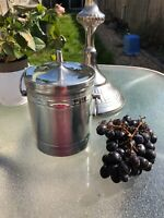VINTAGE VINERS OF SHEFFIELD STAINLESS STEEL ICE CHAMPAGNE BUCKET WINE COOLER