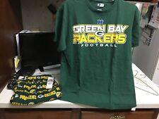 Green Bay Packers Official Team Apparel Shirt Green & Lounge Pants Size Medium