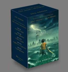PERCY JACKSON & THE OLYMPIANS - RIORDAN, RICK - NEW SCHOOL AND LIBRARY HARDCOVER