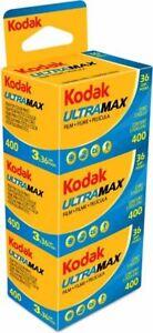 KODAK ULTRAMAX  400 ASA  135/36  3 Filme  MHD 02/2023