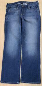 Ladies GAP Curvy Straight Blue Jeans Size 16 Leg 30 B184