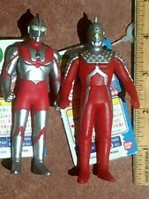 ULTRAMAN & ULTRASEVEN 4 Inch Figures with Tags 2002 Bandai Candy 2-Pack Kaiju