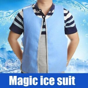 Unisex Summer Cooling Cardigan Vest Ice Pack Suit Personal Vest for Outdoor