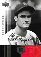 Bobby Doerr Signed 2004 Upper Deck Legends Boston Red Sox Card - COA - HOF - MLB