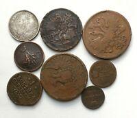 #F604 - Russie lot monnaies argent et cuivre: Nicolas I, Alexandre II 1840-1864