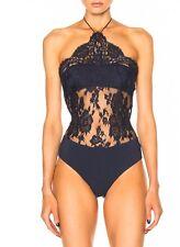 La Perla Freesia Bodysuit Size 10 In Dark Blue