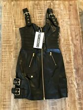 Moschino HM Leather Dress Black (new with tags) - Size 34