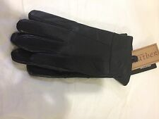 THINSULATE+3M+WOMENS+NEW+ BLACK LEATHER+GLOVES SIZE M/L+ EXTRA SOFT LEATHER