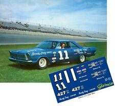 CD_1512 #11 Ned Jarrett   1965 Ford   1:64 Scale Decals