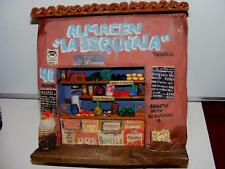 Vtg FOLK ART Mexican Clay Pottery Corner Grocery Store Stall Storefront Handmade