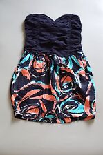 Motel navy blue floral sun dress from Topshop size XS RRP £39.99