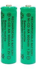 2 x AA 900mAh Ni-Cd 1.2V Rechargeable Batteries