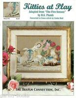 Kitties at Play Linda Bird Design Connection #76 Cross Stitch Cats Pattern NEW