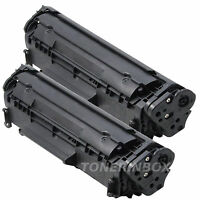 2 Pk Q2612A Compatible Toner For 12A LaserJet 1010 1012 1015 1018 1020 1022 3015