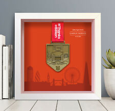 London Marathon Medal Frame Personalised (skyline) - A unique gift!