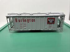 Atlas O Airslide Hopper - Missing Trucks Couplers & Weight  - Burlington Route
