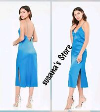 NWT bebe Mara Silk Slip Dress SIZE XS Luxurious silk charmeuse $171 ANGEL