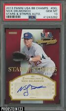 2013 Panini Usa Baseball Stars & Stripes Autographs #Del Nick Delmonico PSA 10