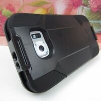 Belt Clip Holster For Samsung Galaxy S6 Rugged Hard Impact Cover Case+KickStand