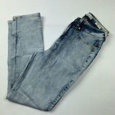 Nicki Minaj Womens Slim Skinny Jeans Blue Zip Light Wash Stretch Denim 5/6 New