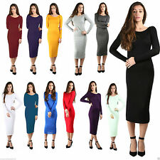 Viscose Party Patternless Long Sleeve Dresses for Women