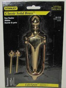 Stanley Hardware Classic Solid Brass Door Knocker No. 80-4102 NEW